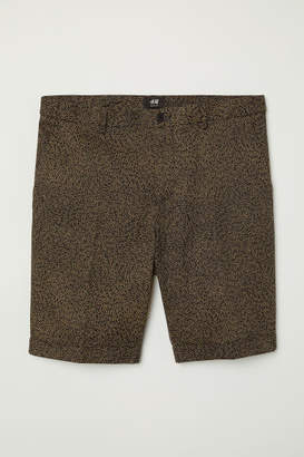 H&M Chino Shorts Skinny Fit - Beige
