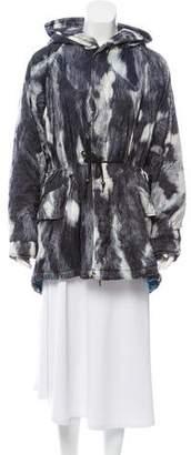Mr & Mrs Italy Abstract Print Parka Jacket