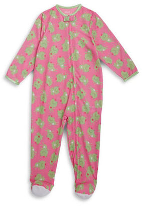 Little Me Baby Girls Frog Print Footies $20 thestylecure.com