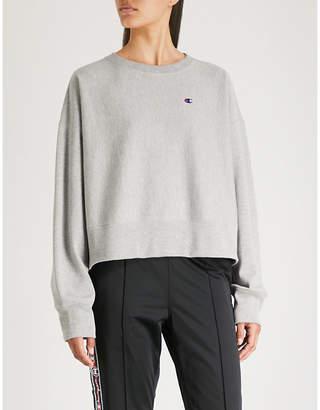 Champion Logo-embroidered cotton-blend sweatshirt