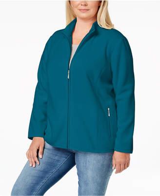 Karen Scott Plus Size Zeroproof Fleece Jacket