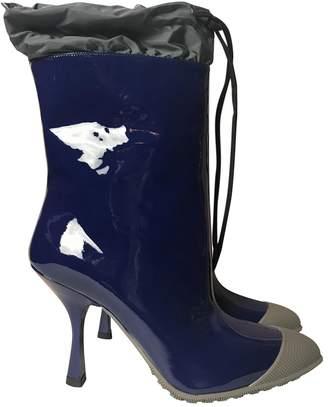 Miu Miu Leather wellington boots