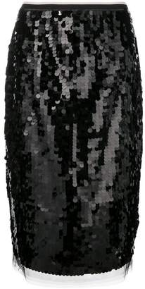 No.21 sequin pencil skirt