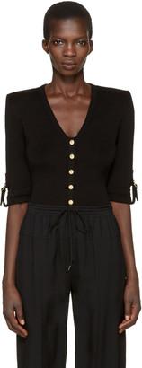 Balmain Black V-Neck Pullover $1,075 thestylecure.com