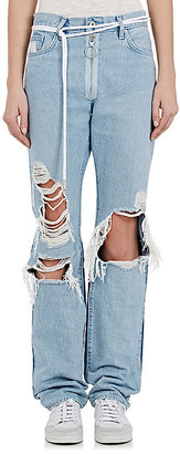Off-White c/o Virgil Abloh Women's Levi's® Distressed Boyfriend Jeans $1,075 thestylecure.com