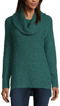 Liz Claiborne Textured Cowl Neck Tunic
