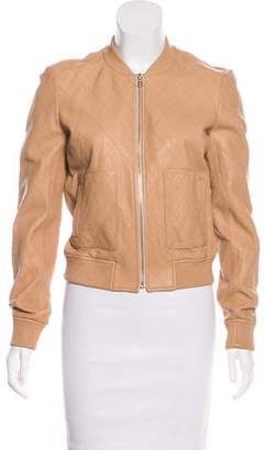 Joie Leather Bomber Jacket