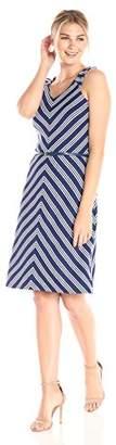 Lark & Ro Amazon Brand Women's Sleeveless Fit and Flare Dress with Belt