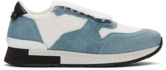 Givenchy White and Blue Active Runner Sneakers