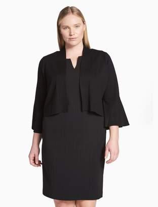 Calvin Klein plus size bell sleeve shrug
