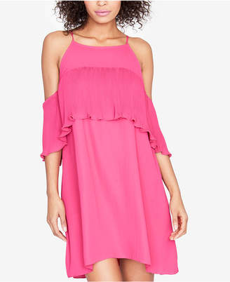 Rachel Roy Pleated-Ruffle Cold-Shoulder Dress, Created for Macy's