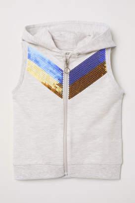 H&M Sleeveless Hooded Jacket - Gray
