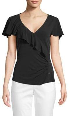 Laundry by Shelli Segal Ruffle-Front Top