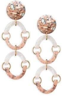 Lele Sadoughi Confetti Rainbow Arch Earrings