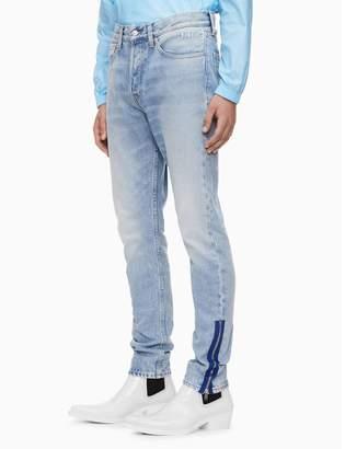 Calvin Klein rigid skinny zip cuff jeans