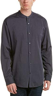 Vince Men's Banded Collar Long Sleeve Shirt