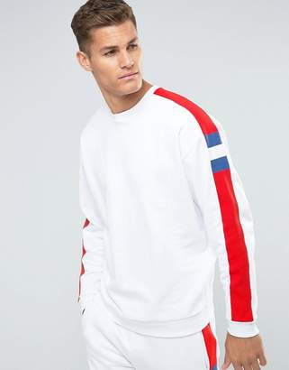 Asos Oversized Sweatshirt With Knitted Cut & Sew