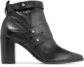 Schutz Ashmore Embellished Leather Ankle Boots