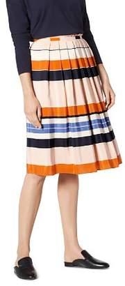 LK Bennett L.K.Bennett Caitlyn Striped Silk Skirt