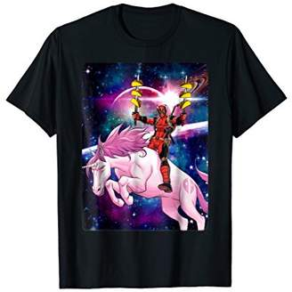 Marvel Deadpool Space Unicorn Tacos Graphic T-Shirt
