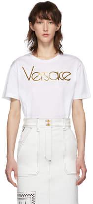 Versace White Gold Logo T-Shirt