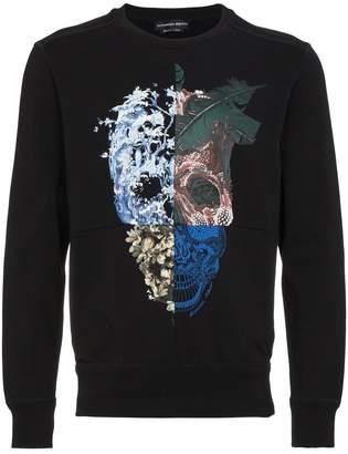 Alexander McQueen Nature Skull Print Sweatshirt