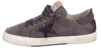 Golden Goose Satin Distressed Sneakers