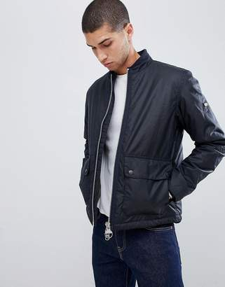 Barbour International Injection wax jacket in navy