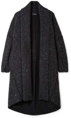 Akris Asymmetric Cashmere And Wool-blend Cardigan - Black