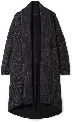 Akris Asymmetric Cashmere And Wool-blend Cardigan - Black