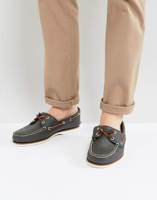 Timberland (ティンバーランド) - Timberland classic boat shoes in navy leather