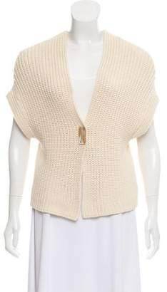 Brunello Cucinelli Short Sleeve Knit Cardigan