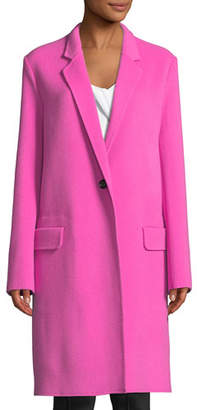 Helmut Lang Double-Face One-Button Wool Blazer Coat