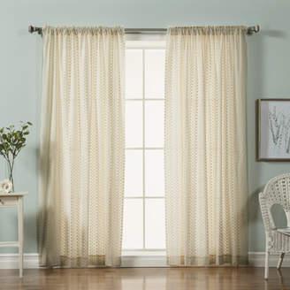 Best Home Fashion Best Home Fashion, Inc. Mini Nature/Floral Semi-Sheer rod Pocket Curtain Panels