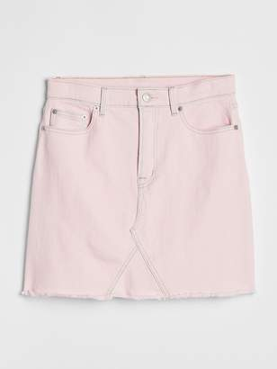 Gap High Rise Color Denim Mini Skirt