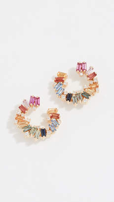 Suzanne Kalan 18k Rainbow Spiral Earrings