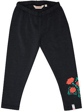 Munster New Girls Tots Girls Mexi Legging Cotton Fitted Elastane Black
