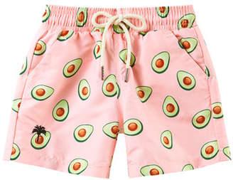 Trunks OAS Kid's Avocado Print Drawstring Swim Trunks, Size 2-14
