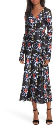 Diane von Furstenberg Polka Dot Silk Wrap Dress