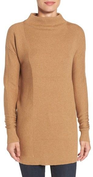 Halogen ® Rib Knit Funnel Neck Tunic