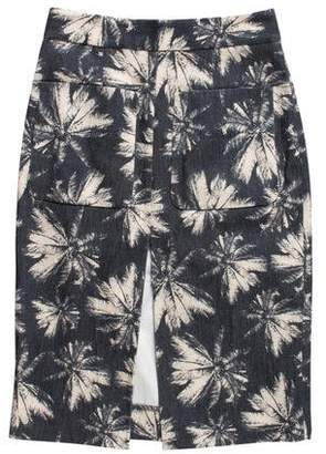 L'Agence Printed Pencil Skirt