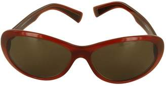 Nina Ricci Brown Plastic Sunglasses