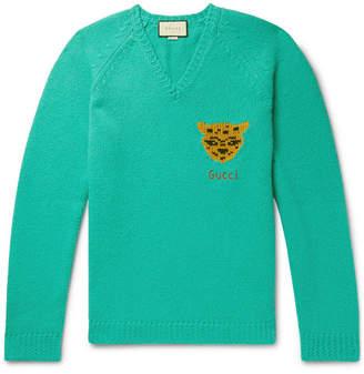 Gucci Oversized Intarsia Wool Sweater