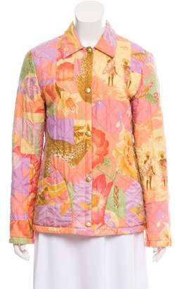 Salvatore Ferragamo Printed Silk Jacket