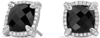 David Yurman Châtelaine Pavé Bezel Stud Earrings with Black Onyx and Diamonds