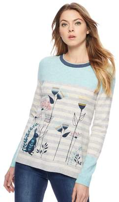 Mantaray Multi-Coloured Striped Rabbit Print Jumper With Wool