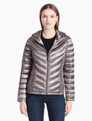 Calvin Klein chevron down packable jacket