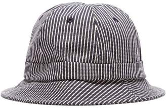 Holiday Boileau - Striped Cotton Canvas Bucket Hat - Mens - Navy Multi