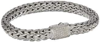 John Hardy Classic Chain 7.5mm Bracelet with Diamonds Bracelet