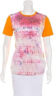 Balenciaga Logo Print Short Sleeve T-Shirt